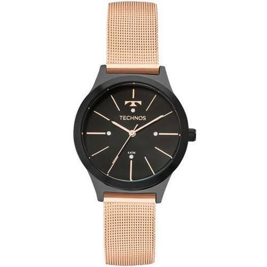 5508658e88c Relógio Technos 2039BN 4P Feminino - Compre Agora