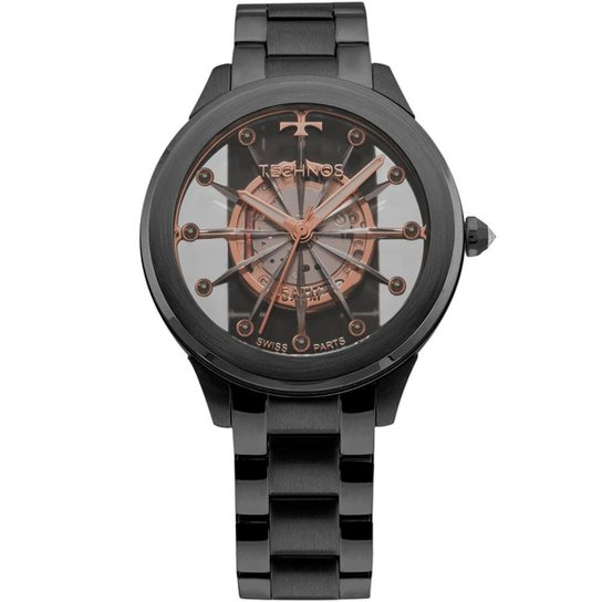 257e384c6f9 Relógio Technos Feminino Essence - F03101AC 4W F03101AC 4W - Preto ...