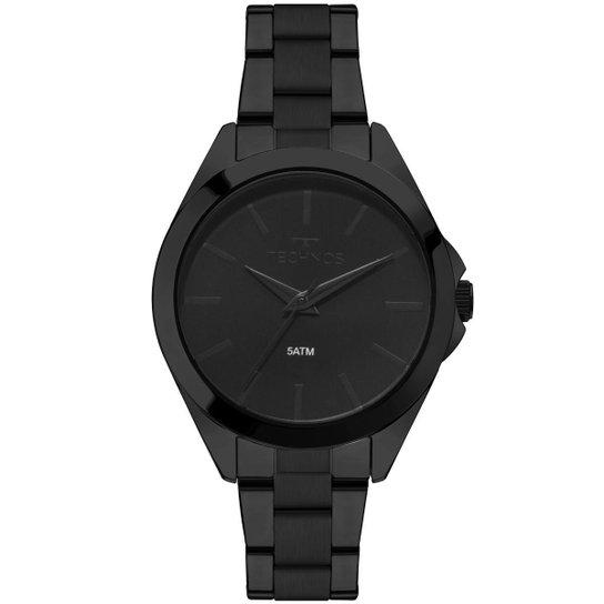 7e30cc95b4f Relógio Feminino Technos 2035MLL 4P Pulseira Aço - Preto - Compre ...