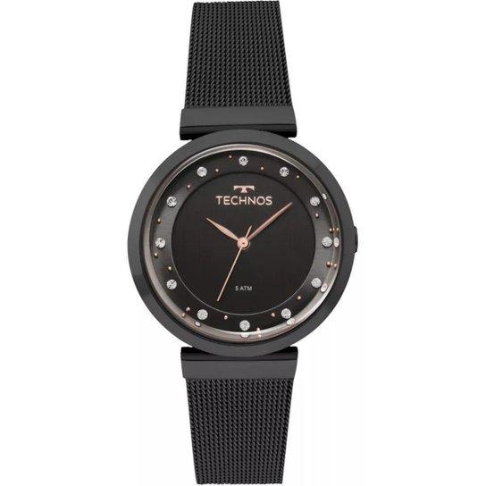 Relógio Feminino Technos 2035MMY 4P 36mm Aço - Preto - Compre Agora ... ebbe891e7f