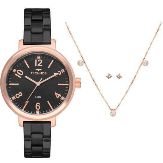 12470bf6c32 Relógio Technos Feminino Trend Bicolor - 2035MMU K4P 2035MMU K4P - Preto