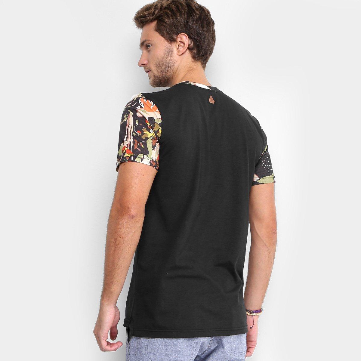 080a4c81f7 Camiseta Redley Gola Careca Bolso Estampada Masculina