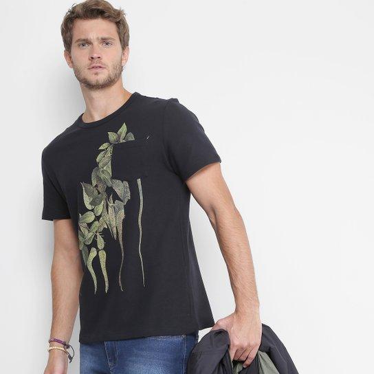 334eba3f1fa3b Camiseta Redley Estampada Masculina - Preto - Compre Agora