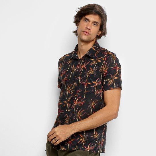 Camisa Redley Estampada Coqueiral Manga Curta Masculina - Compre ... fe4596438a
