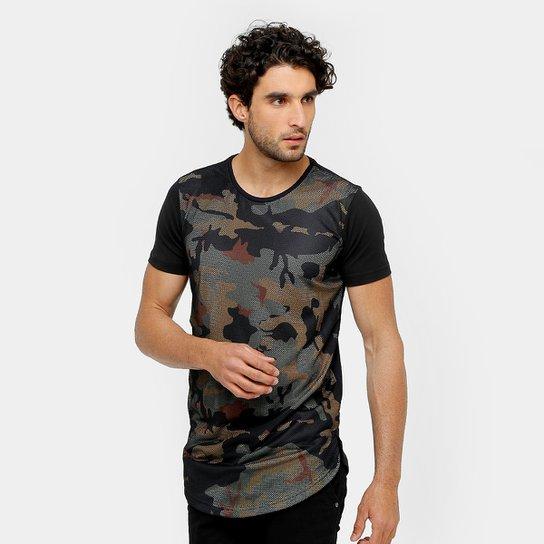 5f41b8d1ff1e7 Camiseta Local Long Tela Camuflada Masculina - Compre Agora