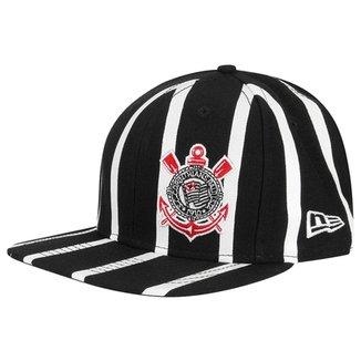 Boné Corinthians New Era Aba Reta 950 Of St Striped Masculino 0e3522a7724