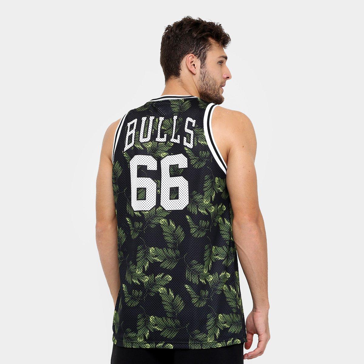 1a158dbdd6926 Camiseta Regata New Era NBA Jersey Palm Camo Chicago Bulls