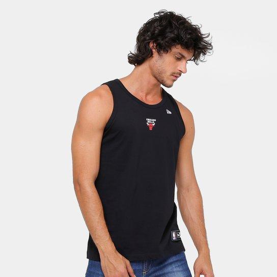 523230156 Camiseta Regata NBA Chigaco Bulls New Era Camu And Color Masculina - Preto