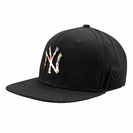 60b76c32e Boné New Era MLB New York Yankees Aba Reta 950 Of Sn Lic981 Su - Preto