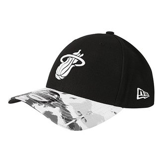 0d0e51b58 Boné New Era NBA Miami Heat Aba Curva Allover