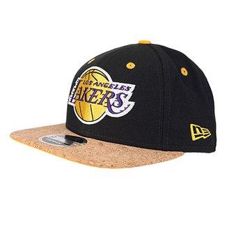45beeb40963a4 Boné New Era NBA Los Angeles Lakers Aba Reta 950 OF SN Cork