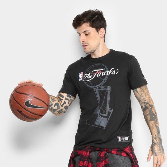 Camiseta NBA Chicago Bulls New Era Tropy Masculina - Preto - Compre ... 5db2b1d2a57