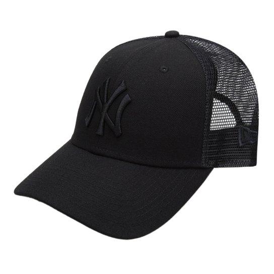 Boné New Era MLB New York Yankees Aba Curva 940 Sn Trucker - Compre ... 2695890282f