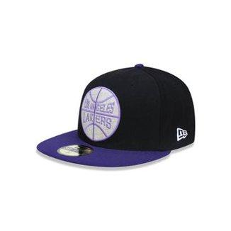 1cbb23d9c4c34 Boné 5950 Los Angeles Lakers NBA Aba Reta New Era
