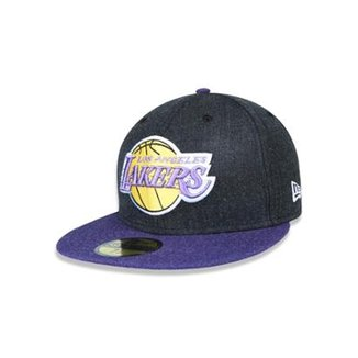 Boné 5950 Los Angeles Lakers NBA Aba Reta New Era 3dd38579f7e