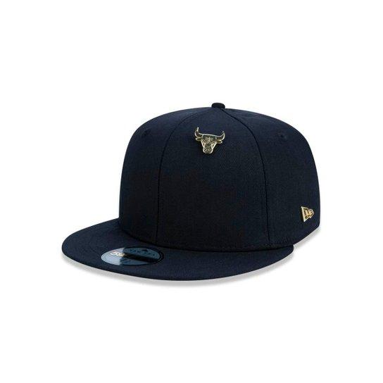 a42d03a64f91d Boné 5950 Chicago Bulls NBA Aba Reta New Era - Preto - Compre Agora ...