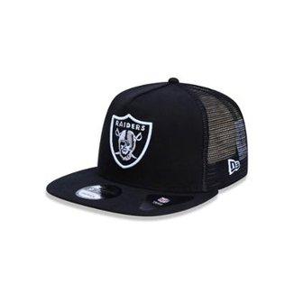 Boné 950 A-frame Oakland Raiders NFL Aba Reta Snapback New Era 2947d46884b