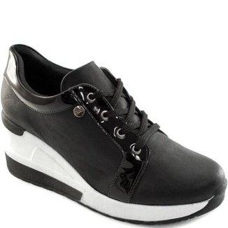 21d675283 Tênis Sneaker Anabela Quiz Feminino