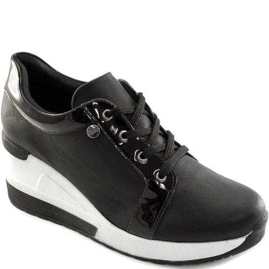 0aa78109df Tênis Sneaker Anabela Quiz Feminino - Preto
