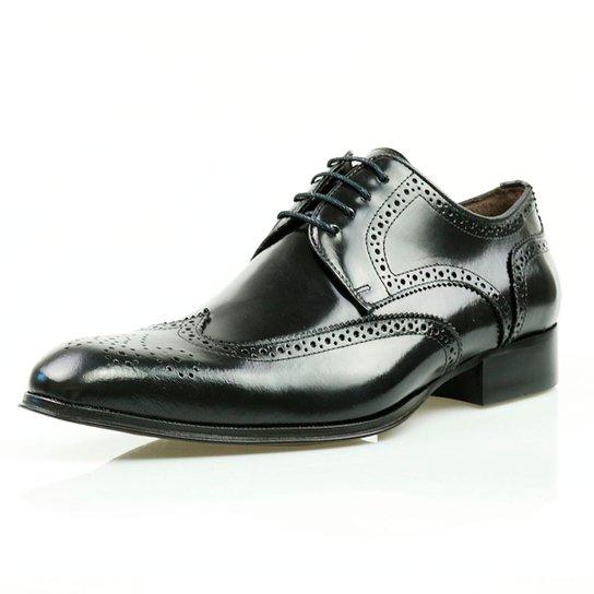 d8a8894dd7 Sapato Social Oxford Classico Couro Masculino - Preto - Compre Agora ...
