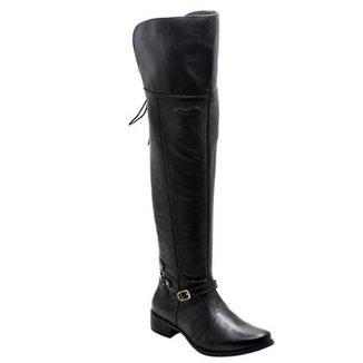 7c8d49d75c1dd Bota Over the Knee Couro D&R Shoes Feminina