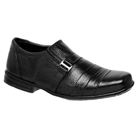 27927c0e96 Sapato Social Infantil Em Couro Legítimo Com Solado Em Borracha - Preto
