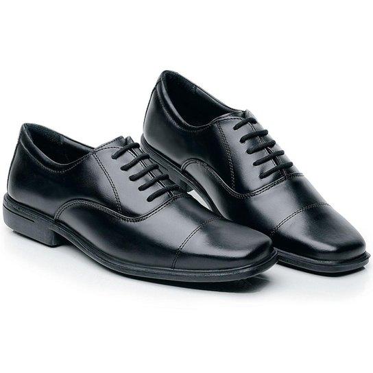 9ff4fd2704 Sapato Executivo em Couro Rafale Civil C  Cadarço Masculino - Preto
