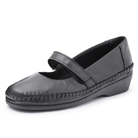 48b7ca694 Sapato Conforto Pizaflex Boneca Feminino - Preto | Zattini