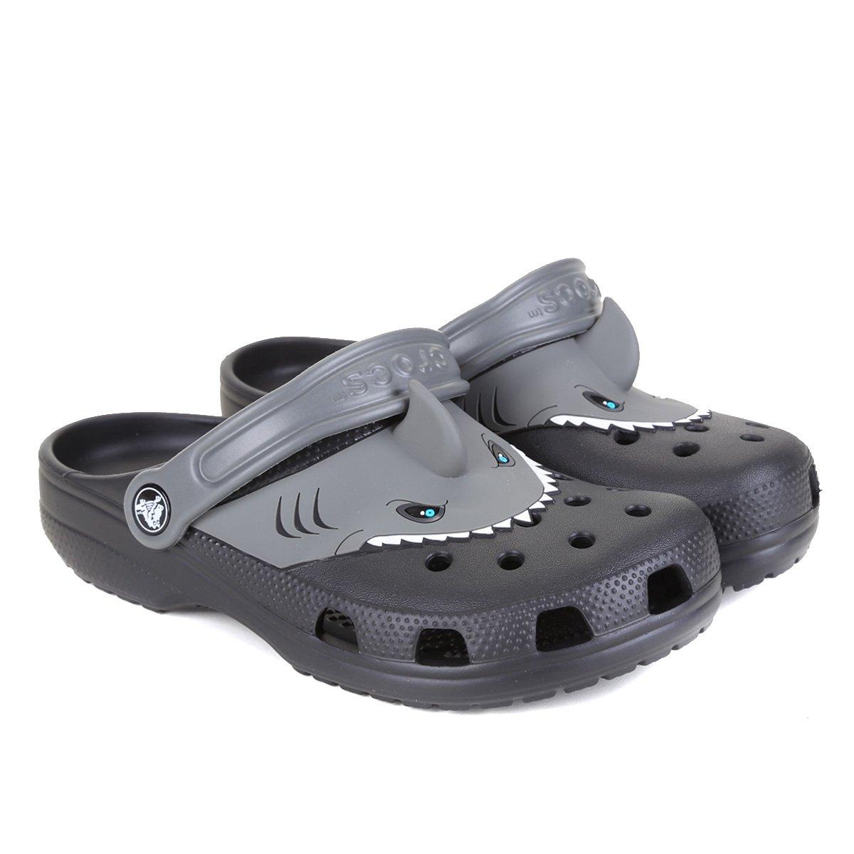 Crocs Infantil  Classic Shark Clog K Masculina