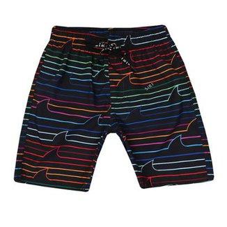 Shorts Infantil Felipe Estampa Listra Colorida Siri Masculino 99d7e6fda98