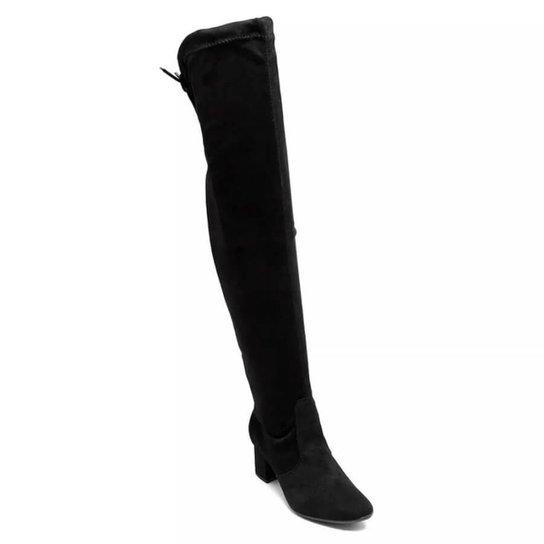 Bota Renata Melo Over The Knee Feminina - Preto - Compre Agora  1c9374daf25d3