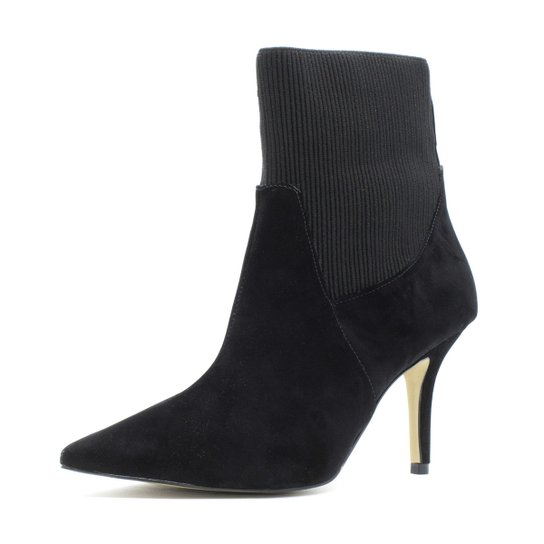 34674d640 Bota Sock Boot Shoes Inbox Salto Fino Feminina - Compre Agora