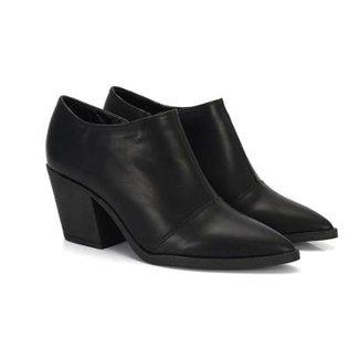 47c69d28d1 Bota Not-Me Ankle Boot Bico Fino Sola PVC Salto Baixo Feminina