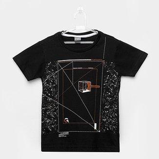 7ecc83c353 Camiseta Infantil Gangster Manga Curta Masculina