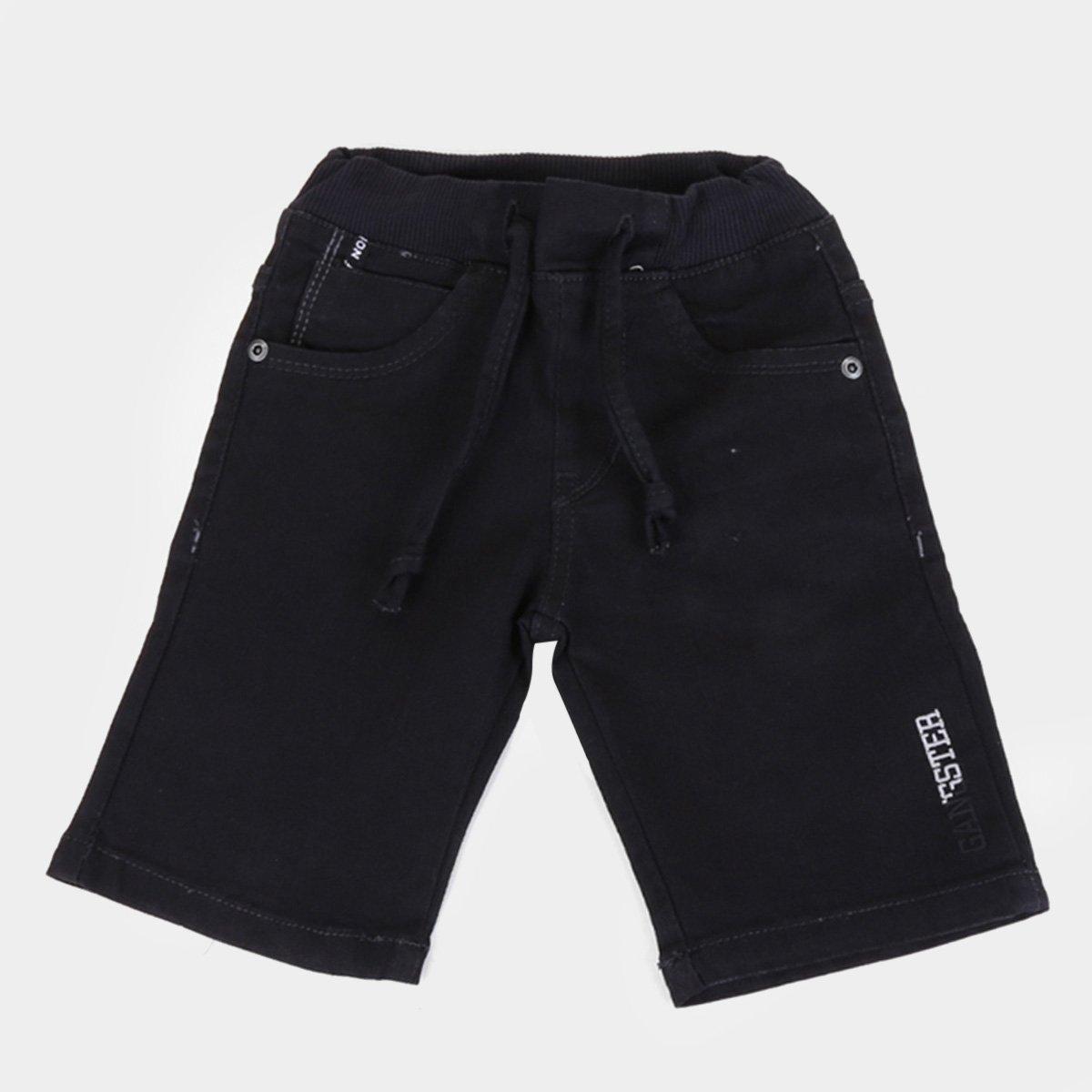 Bermuda Jeans Infantil Gangster Lisa Cordão Masculina