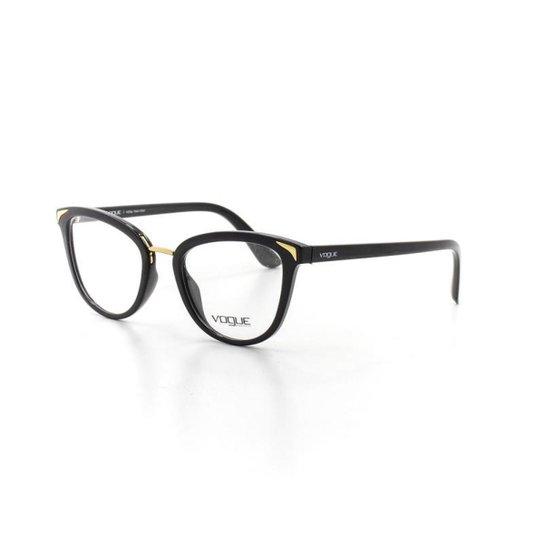 8f6b5721810a2 Armação De Óculos De Grau Vogue 5231 T 51 C W44 Metal Feminino - Preto