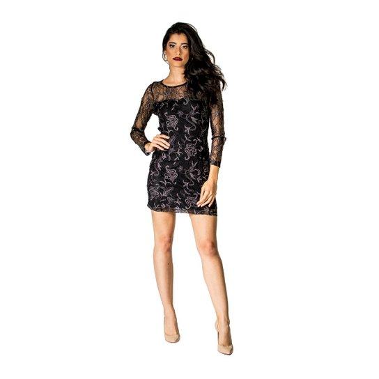 a8f2fa423 Vestido Renda Constanza Hanbook - Preto - Compre Agora | Zattini
