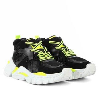 4055c195f0 Tênis Zatz Chunky Neon Recortes Feminino