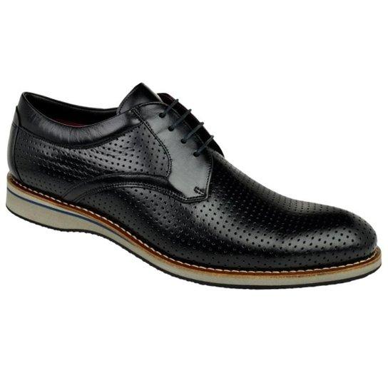3f78e9f9b0 Sapato Social Constantino Furinhos Masculino - Preto - Compre Agora ...