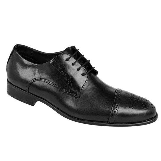 ad8123bf69 Sapato Social Couro Oxford Constantino Masculino - Preto - Compre ...