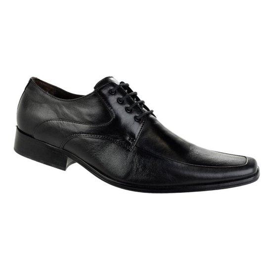 0cdb832fa8 Sapato Social Paganezzi Cadarço Masculino - Preto - Compre Agora ...