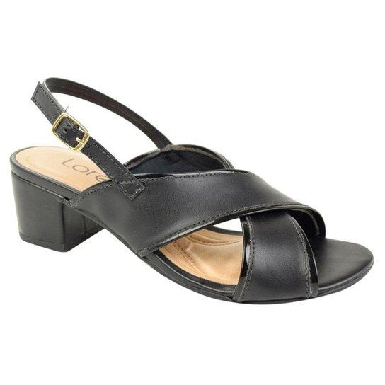 8b097bfa95 Sandália de Salto Baixo Lore Feminino - Preto - Compre Agora