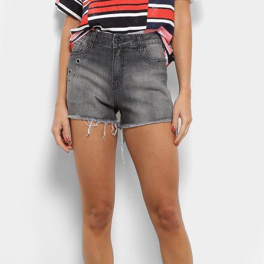 943116bd7 Short Jeans Coca-Coca Hot Pants Cintura Média Feminino - Preto | Zattini