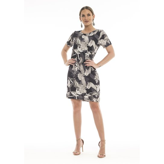 632121b19 Vestido Crepe Folhas - Compre Agora | Zattini