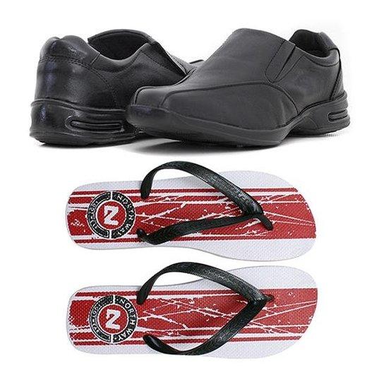 d335f68230 Kit Sapato Social Couro + Chinelo Prime Store Masculino - Compre ...