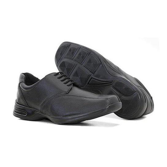 d83db90a41 Sapato Social Couro Prime Store Cadarço Masculino - Preto