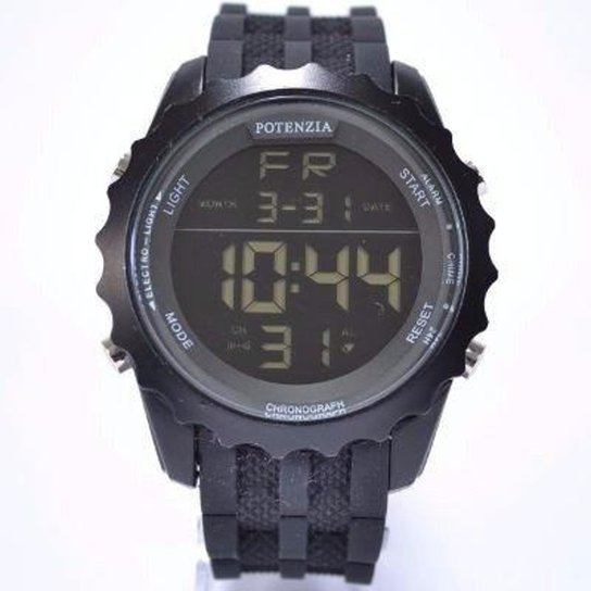 04f8e1729c5 Relógio Potenzia Digital Running à Prova dágua Original - Preto ...