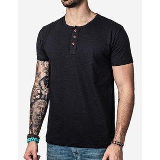 Camiseta Hermoso Compadre Henley Masculina dd43cfb22e3fc