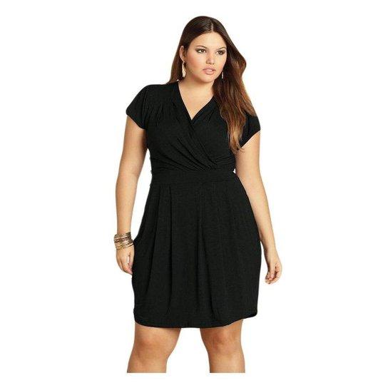 f6c7484f102c Vestido Beline Plus Size com Decote Transpassado Quintess | Zattini