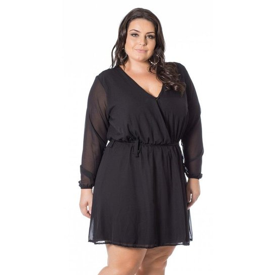 ba65208f31 Vestido Miss Masy Viscolycra Chiffon Manga Longa - Compre Agora ...